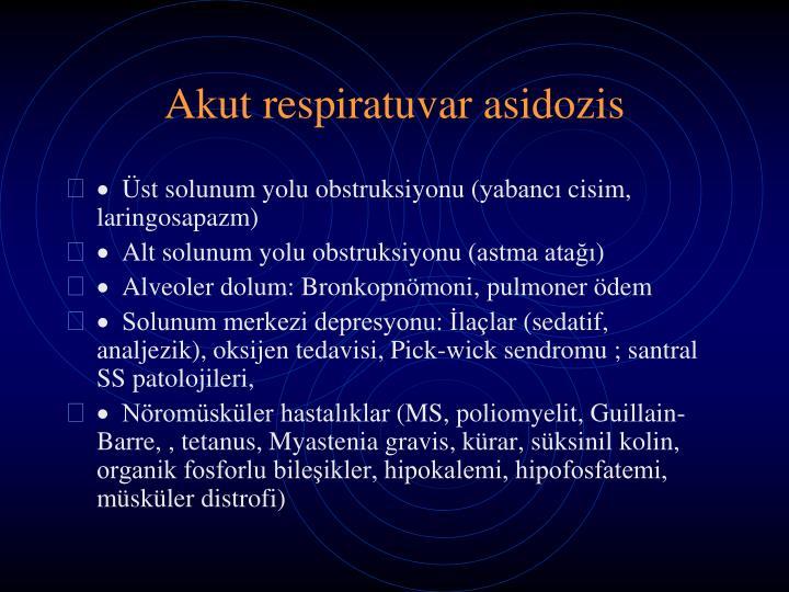 Akut respiratuvar asidoz