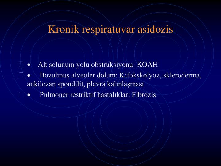 Kronik respiratuvar asidozis