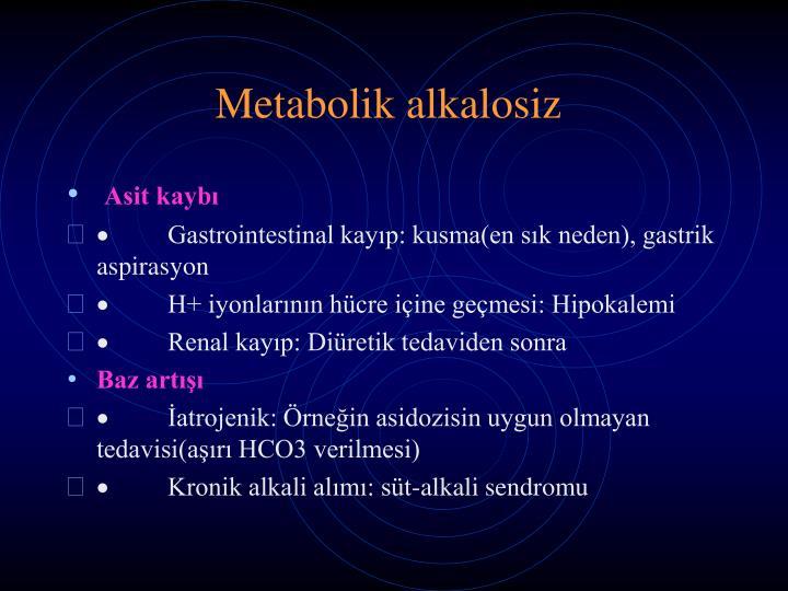 Metabolik alkalosiz
