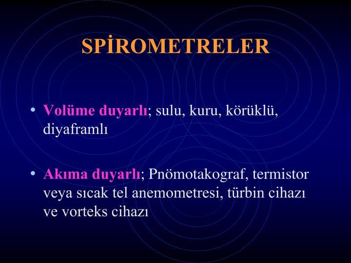 SPİROMETRELER