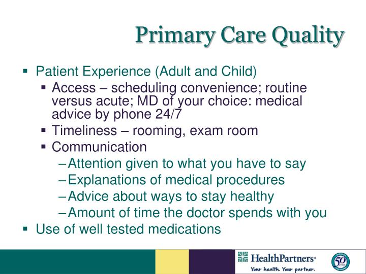 Primary Care Quality
