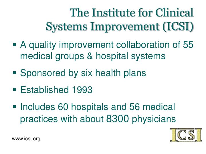 The Institute for Clinical