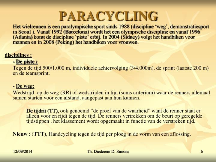 PARACYCLING