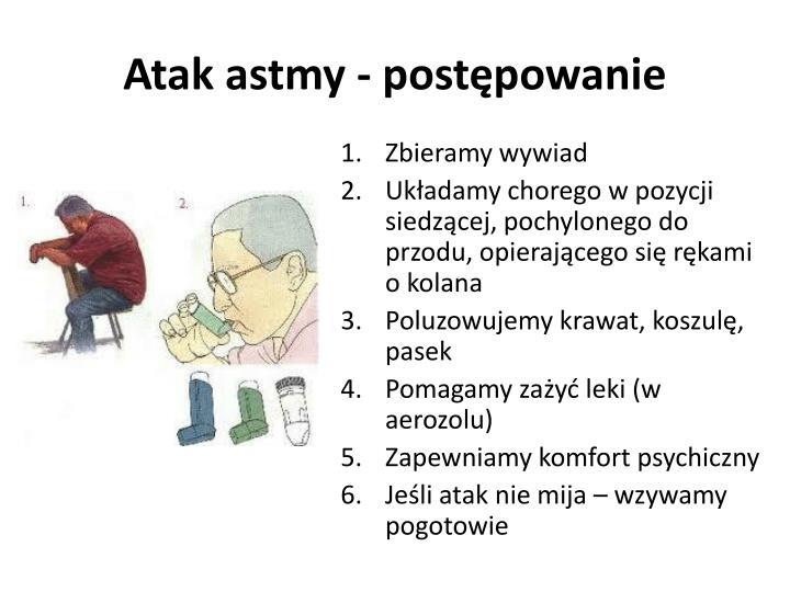 Atak astmy - postępowanie