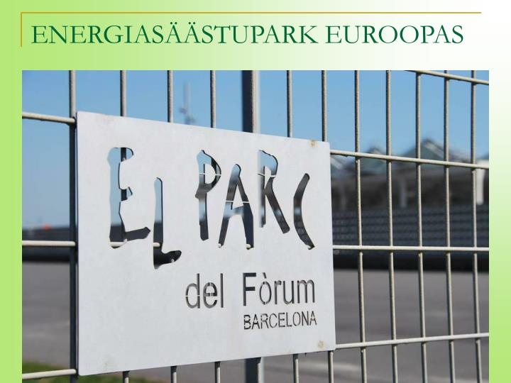 ENERGIASÄÄSTUPARK EUROOPAS