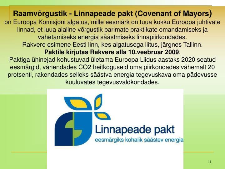 Raamvõrgustik - Linnapeade pakt (Covenant of Mayors