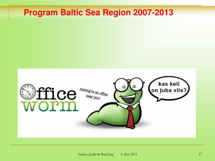 Program Baltic Sea Region 2007-2013