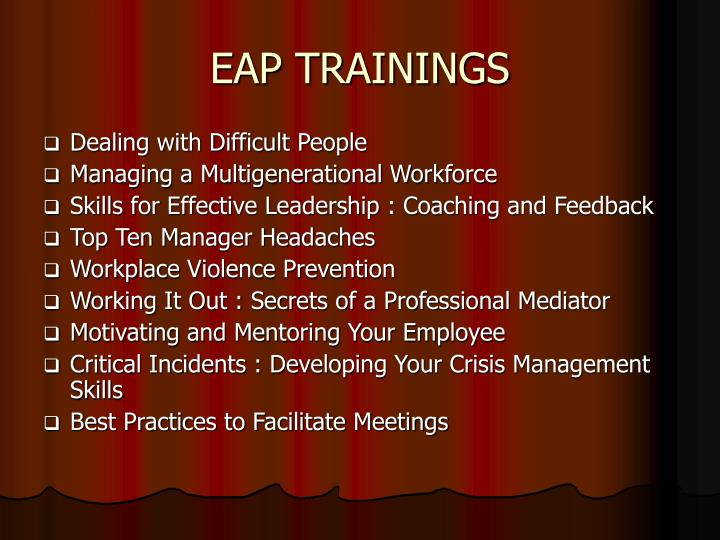EAP TRAININGS