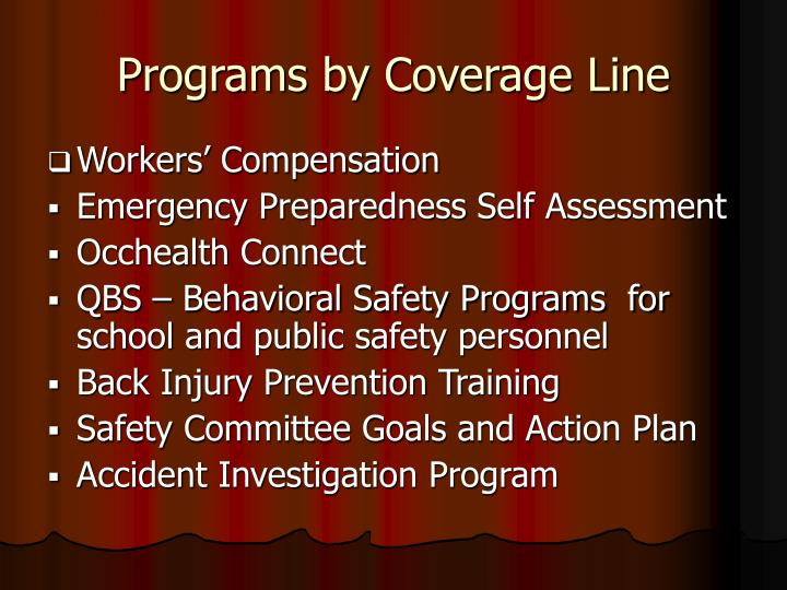 Programs by Coverage Line