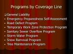 programs by coverage line1