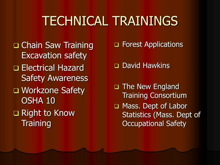 Chain Saw Training