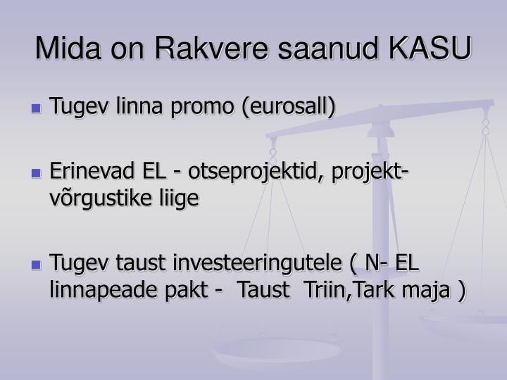 Mida on Rakvere saanud KASU