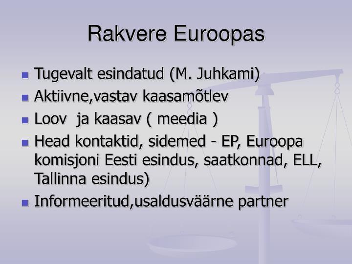 Rakvere Euroopas