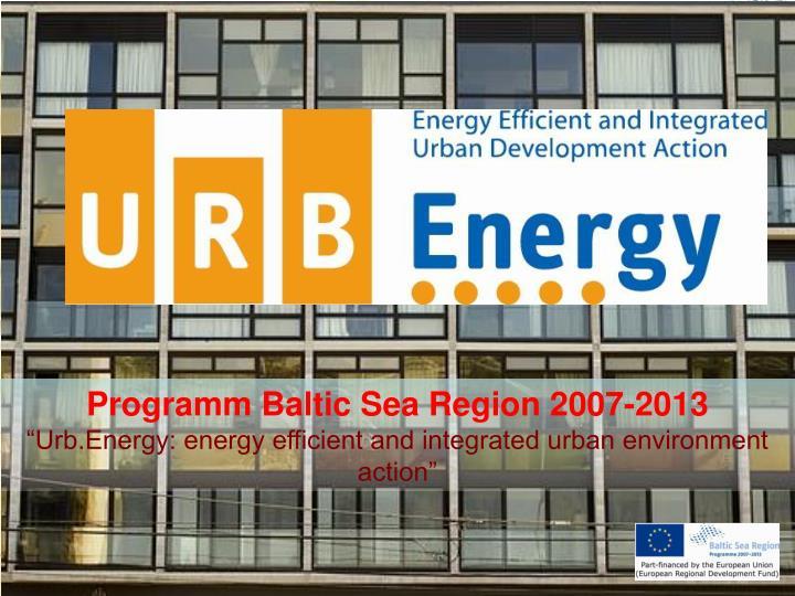 Programm Baltic Sea Region 2007-2013