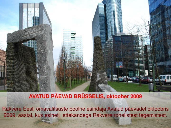 AVATUD PÄEVAD BRÜSSELIS, oktoober 2009