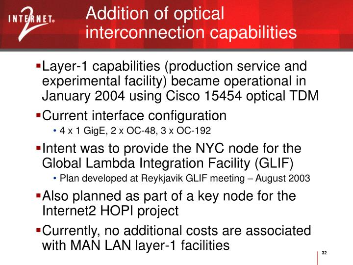 Addition of optical interconnection capabilities