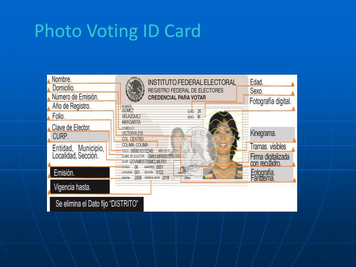 Photo Voting ID Card