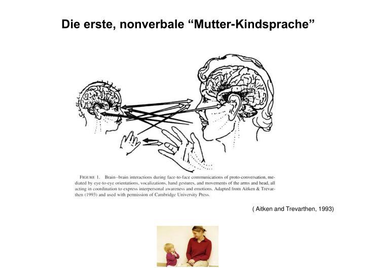 """Die erste, nonverbale """"Mutter-Kindsprache"""""""