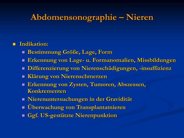 Abdomensonographie – Nieren