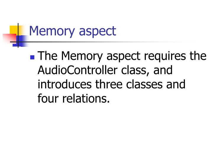 Memory aspect