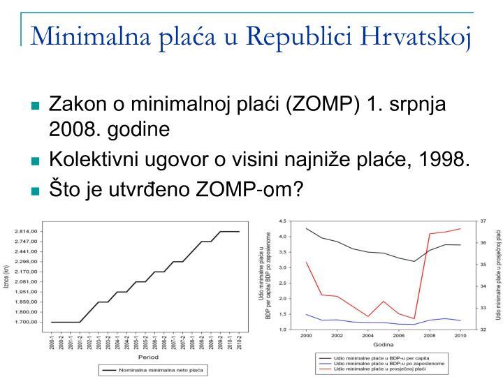 Minimalna plaća u Republici Hrvatskoj