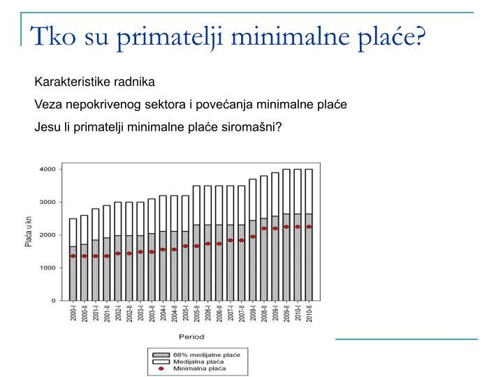 Tko su primatelji minimalne plaće?