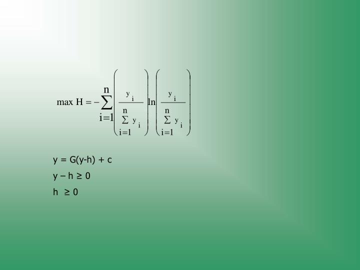 y = G(y-h) + c