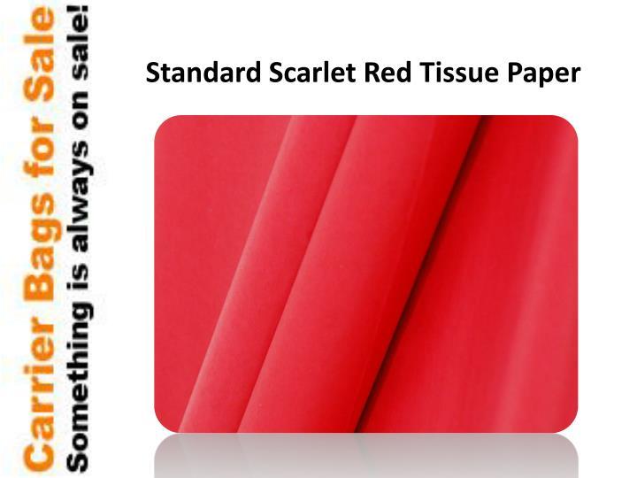 Standard Scarlet Red Tissue Paper