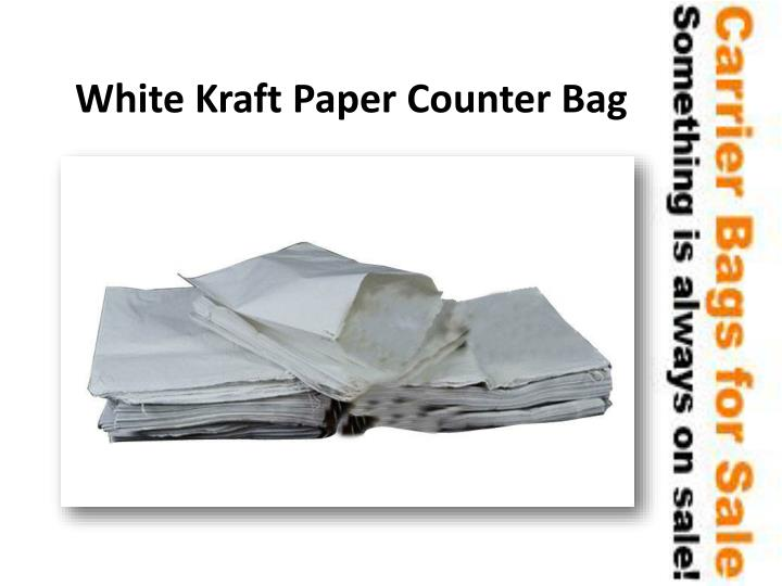 White Kraft Paper Counter Bag