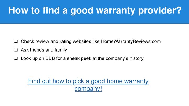 How to find a good warranty provider?