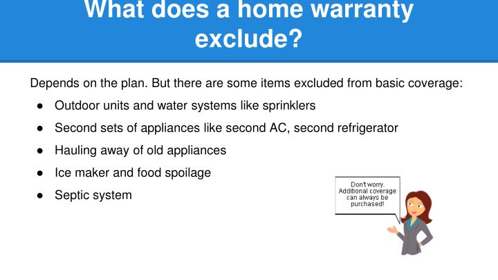 What does a home warranty exclude?