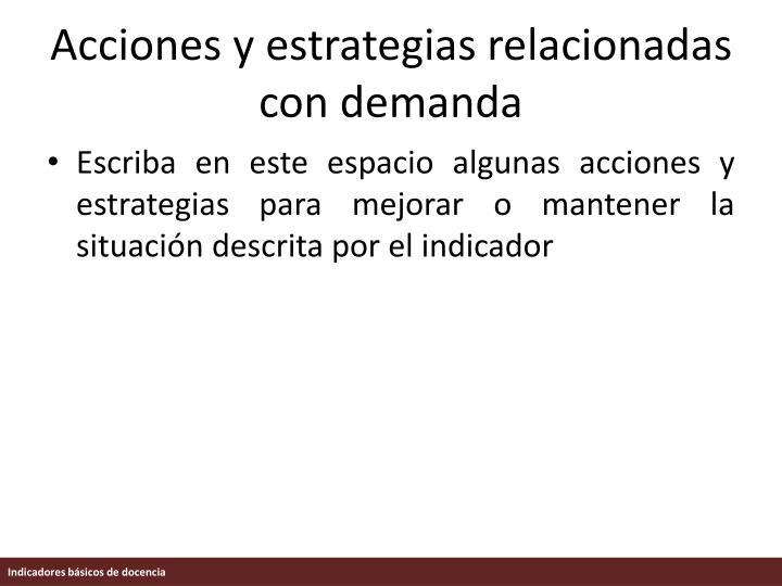 Acciones y estrategias relacionadas con demanda
