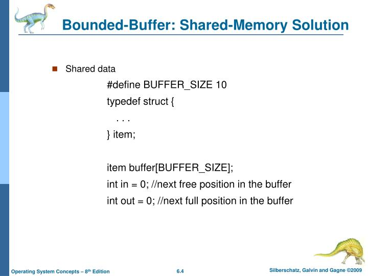Bounded-Buffer: Shared-Memory Solution