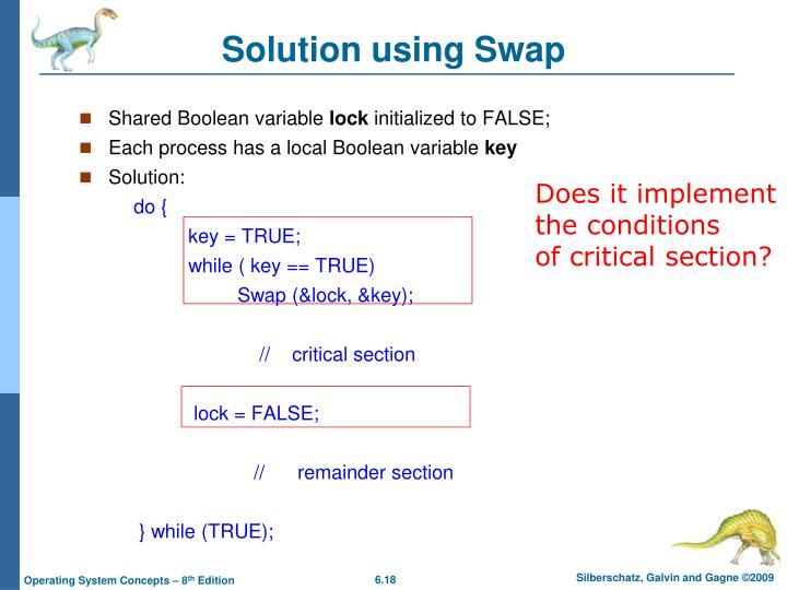 Solution using Swap