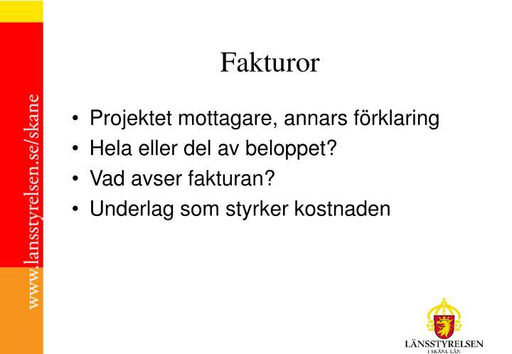 Fakturor