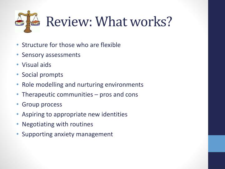 Review: What works?