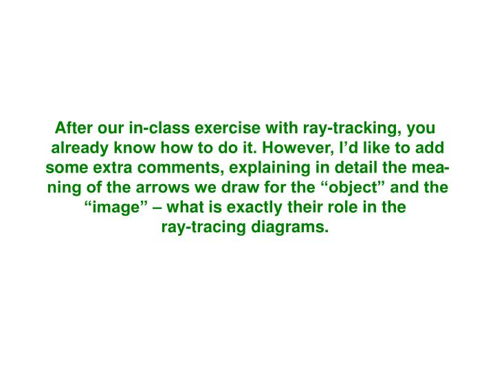 After our in-class exercise with ray-tracking, you