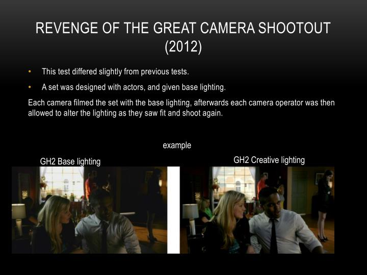 revenge of the great camera shootout