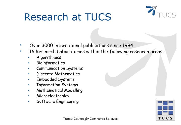 Research at TUCS