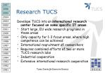 research tucs