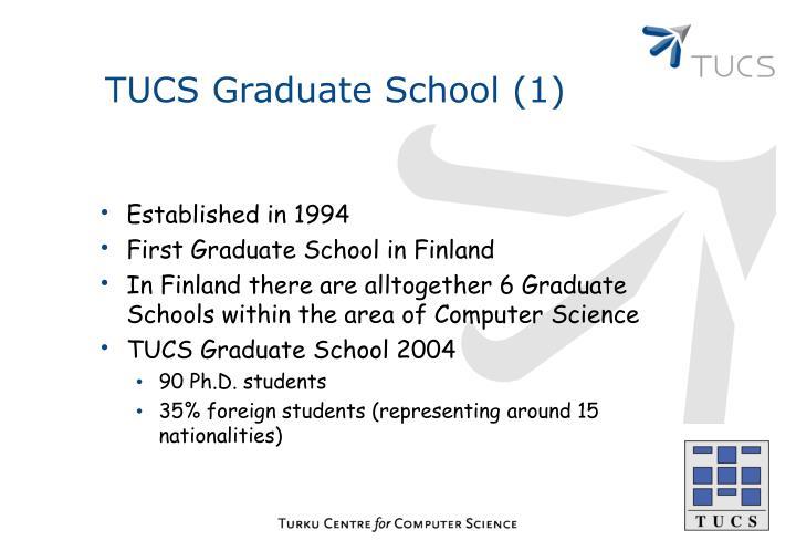 TUCS Graduate School (1)