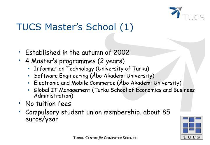 TUCS Master's School (1)