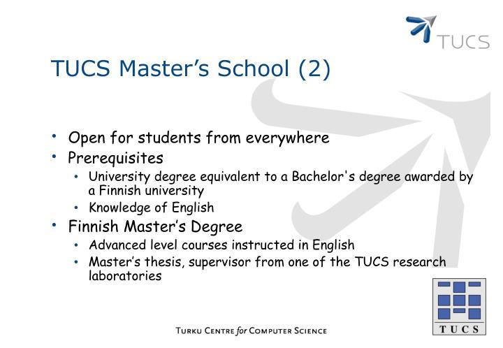 TUCS Master's School (2)