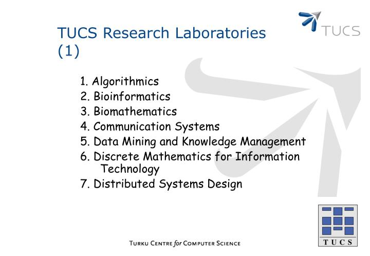 TUCS Research Laboratories (1)