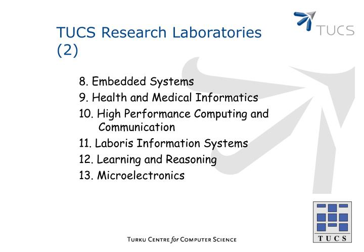 TUCS Research Laboratories (2)