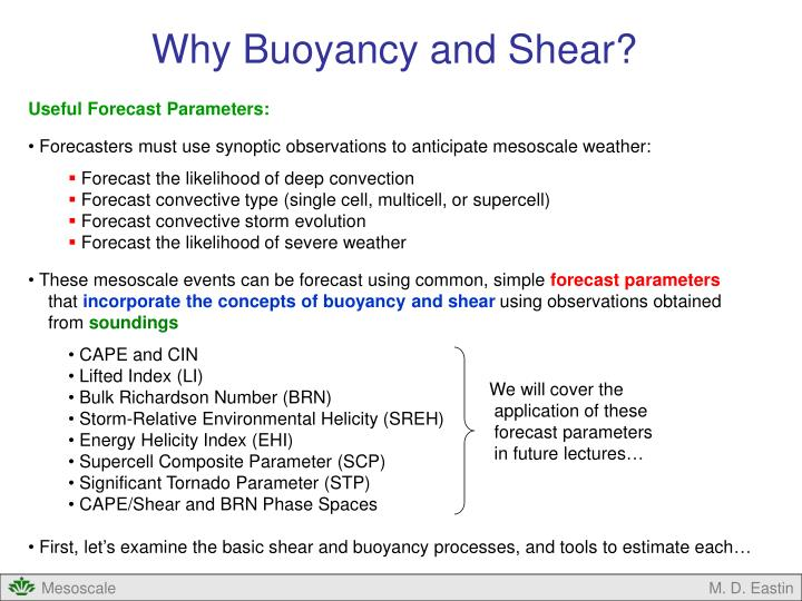 Why Buoyancy and Shear?