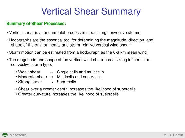 Vertical Shear Summary