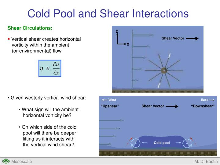 Cold Pool and Shear Interactions