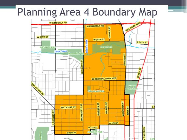 Planning Area 4 Boundary Map