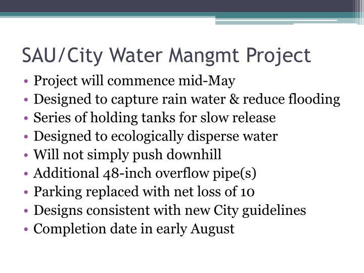 SAU/City Water Mangmt Project